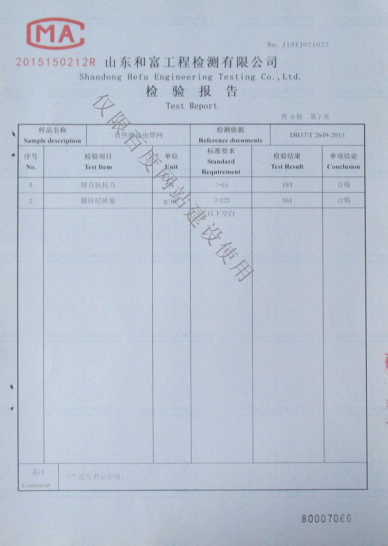 检验报告第7页