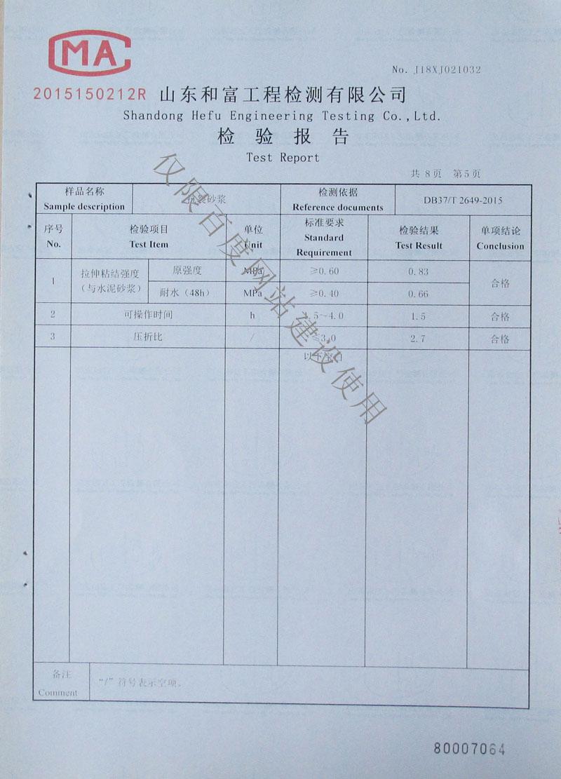 检验报告第5页
