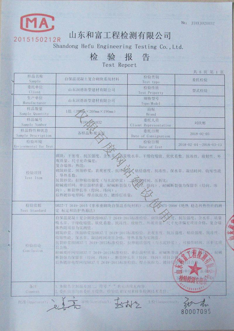 检验报告第1页