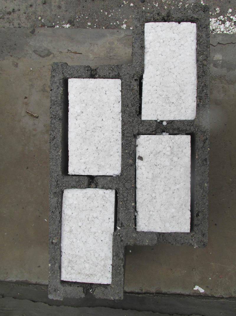建筑外墙自保温砌块